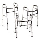 "Medline Deluxe Walkers Can Add 3"" or 5"" Wheels"