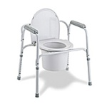 Medline Commode Deluxe 3-in-1 Steel