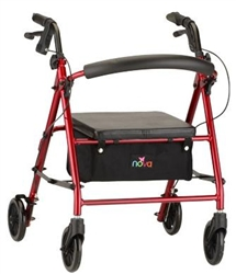 Nova Vibe Petite Rolling Walker 18 Inch Seat Height