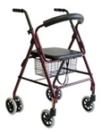 "Karman Rollator w/(6) 6"" Wheels and push-down brake R-4200BD"