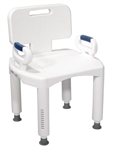 Drive Premium Series Bath Bench with Back and Arms RTL12505