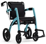 Rollz Motion Side-Folding Rollator and Transport Wheelchair All in One