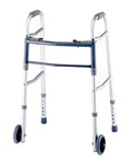 "Karman Deluxe Folding Walker w/5"" Wheels and Adjustable Height W-01-W5"