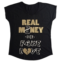 Real OVER Fake Tee