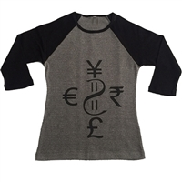 Ladies Currency Baseball Tee