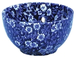 Blue Calico Bowl 4.75in diameter, 12oz.