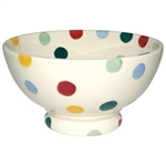 Polka Dot French Bowl  5.5in. diameter, 12oz.