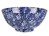 Blue Calico 11 inch Chinese Bowl
