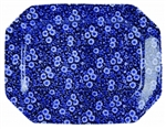 Blue Calico Platter 13in. x 9.75in.