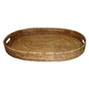 Oval Rattan Tray 26inx19in.x3in.