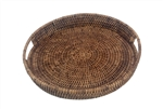 Small Round Rattan Tray