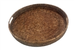 Large Round Rattan Tray