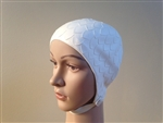 Retro Petals Textured swim cap