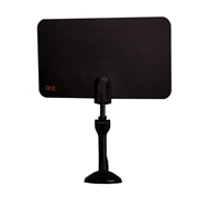 QFX ANT-7 HD/DTV/UHF/VHF/FM ULTRA Flat Indoor Antenna - BLACK