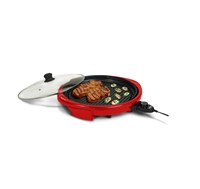 "Maximatic EMG-980R Elite Gourmet 14"" Electric Indoor Grill - RED"