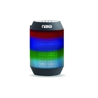 Naxa NAS-3075 Vibe Mini Rechargeable Bluetooth Speaker w/AUX-In/Built-In Mic/Multicolor Effects