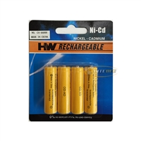 PHC C4-AA800 Nickel-Cadmium (Ni-Cd) Rechargeable Battery AA 1.2V 800mAh - 4 Pieces