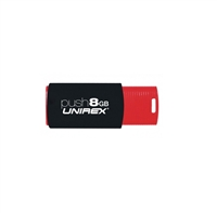 Unirex USFP-208 8GB Push USB 2.0 Flash Drive - RED