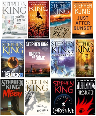 FIVE-PACK Bundle of Stephen King paperbacks