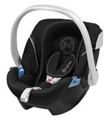 Cybex Aton Infant Car Seat in Shadow Black