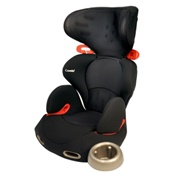 Combi Kobuk Air Thru Booster Car Seat in Licorice