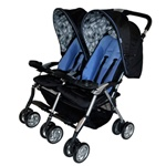 Combi Twin Sport Double Stroller in Indigo