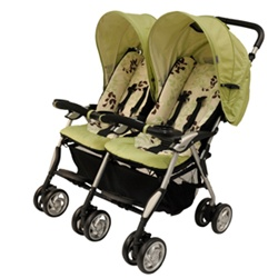 Combi Twin Sport Double Stroller in Jade