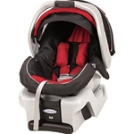 Graco Snugride Infant Car Seat in Lotus Red Black