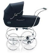 Inglesina Classica Pram and Frame with Diaper Bag in Marina