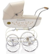 Inglesina Classica Pram and Frame with Diaper Bag in Vanilla