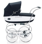 Inglesina Classica Pram and Frame with Diaper Bag in Vernice