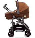 Inglesina 2011 Zippy Bassinet Pram in Cremino Brown for Zippy Stroller