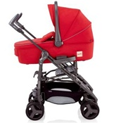 Inglesina 2011 Zippy Bassinet Pram in Ribes Red for Zippy Stroller
