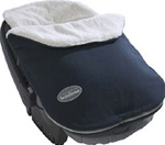 JJ Cole Fleece Infant Bundle Me in Navy Blue