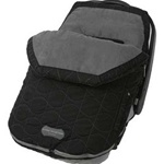 JJ Cole Fleece Infant Bundle Me in Black Stealth