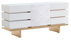 Nurseryworks Three Wide Dresser with Circle Door in Light Ash