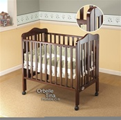 Orbelle Portable Crib Cherry
