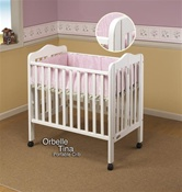Orbelle Portable Crib White