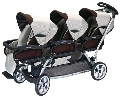 Peg Perego 2011 Triplette Sw Complete Triple Stroller In Java