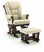 Shermag Chanderic  Six Position Glider Rocker and Ottoman 37779 in Cabernet