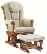 Shermag Chanderic  Six Position Glider Rocker and Ottoman 37779 in Chestnut