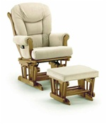 Shermag Chanderic  Six Position Glider Rocker and Ottoman 37779 in Pecan