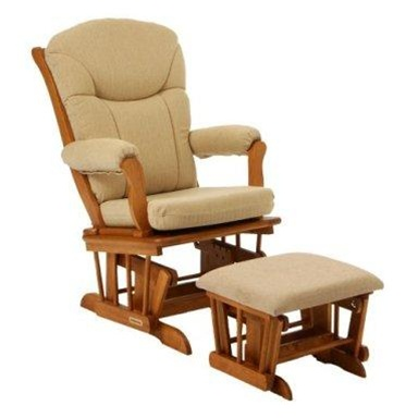 shermag chanderic sleigh glider rocker honey
