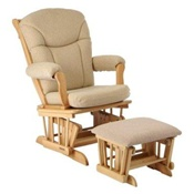 Shermag Chanderic Sleigh Glider Rocker Natural