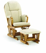 Shermag Chanderic  Glider Rocker and Ottoman 37913cb in Pecan