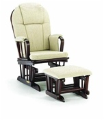 Shermag Chanderic  Glider Rocker and Ottoman 37913cb in Black Cherry