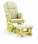 Shermag Chanderic  Glider Rocker and Ottoman 37913cb in Natural