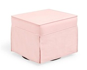 Shermag Super Smooth Glider Ottoman in Pink