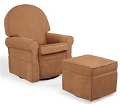 Shermag Round Back Upholstered Glider Rocker Chair w/Recline