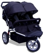 CityX3 Swivel Twin Double Stroller in Classic Black